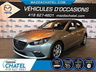 Used 2016 Mazda MAZDA3 Sport GX - CAMÉRA - CRUISE - BLUETOOTH for sale in Quebec, QC