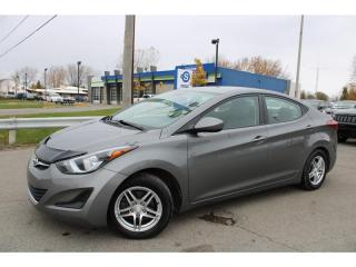 Used 2014 Hyundai Elantra MAN. L GR ELECTRIQUE!!! for sale in Ste-Catherine, QC