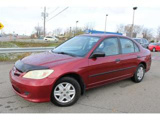 Used 2005 Honda Civic SE A/C TRES ECONOMIQUE!!! for sale in Ste-Catherine, QC