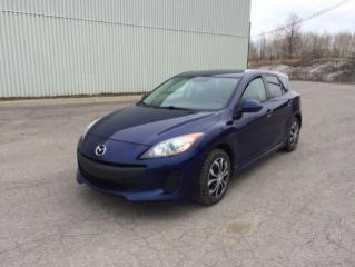 Used 2012 Mazda MAZDA3 Voiture à hayon à 4 portes, boîte manuel for sale in Quebec, QC