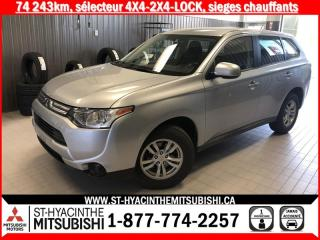 Used 2014 Mitsubishi Outlander 4WD financement 2.9% 36 mois for sale in St-Hyacinthe, QC