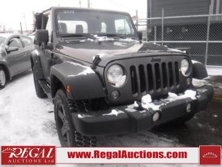 Used 2014 Jeep Wrangler Sport 2D Utility 4WD for sale in Calgary, AB