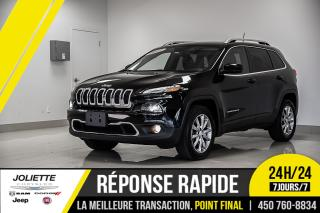 Used 2017 Jeep Cherokee Limited, CUIR, NAVIGATION, V6!! for sale in Joliette, QC