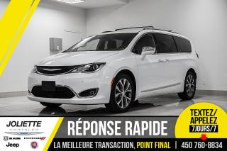 Used 2018 Chrysler Pacifica Limited, STOW'N GO, CUIR, NAVIGATION!! for sale in Joliette, QC