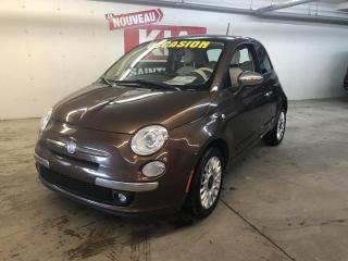 Used 2012 Fiat 500 LOUNGE*CUIR*TOIT*AC for sale in Ste-Julie, QC