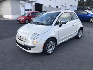 Used 2013 Fiat 500 LOUNDGE*GRP ÉLECTRIQUES*A/C*TOIT*CUIR*MA for sale in Ste-Julie, QC