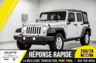 Used 2016 Jeep Wrangler Sport, 4X4, A/C, GR ÉLECTRIQUE! for sale in Joliette, QC