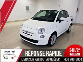 Used 2017 Fiat 500 Pop , AIR CLIMATISÉ, B;UETOOTH, RÉGULATEUR DE VITE for sale in Joliette, QC