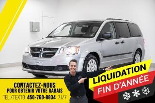 Used 2017 Dodge Grand Caravan SE, BLUETOOTH, MIROIRS CHAUFFANTS, ENTRÉE SANS CLÉ for sale in Joliette, QC