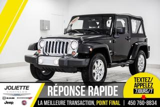Used 2013 Jeep Wrangler Sahara, 2 TOIT, BLUETOOTH, DÉMARREUR!!! for sale in Joliette, QC