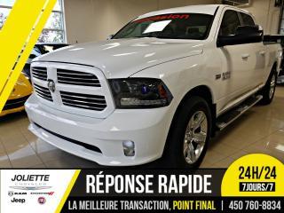 Used 2015 RAM 1500 Sport,GARANTIE PROLONGÉE,  CREW, 4X4, BOITE LONGUE for sale in Joliette, QC