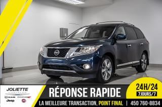 Used 2015 Nissan Pathfinder Platinum, DVD, CUIR, TOIT, NAVIGATION!! for sale in Joliette, QC