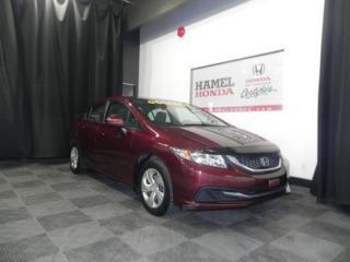 Used 2015 Honda Civic LX Automatique GARANTIE GLOBAL HONDA 10/16/2019 OU 120,000 KM for sale in St-Eustache, QC
