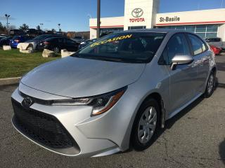 Used 2020 Toyota Corolla L BLUETOOTH CLIMATISEUR CRUISE GROUPE ÉLECTRI for sale in St-Basile-le-Grand, QC