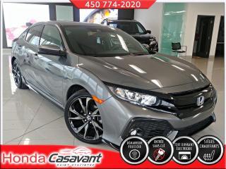 Used 2018 Honda Civic 1.5 TURBO HB SPORT/DEM. DIST/VIT. TEINTÉ for sale in St-Hyacinthe, QC