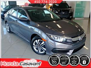 Used 2017 Honda Civic LX MAN - CRUISE/CAMÉRA RECUL/BLUETOOTH for sale in St-Hyacinthe, QC