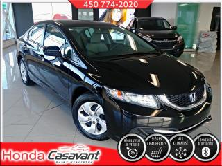 Used 2015 Honda Civic LX MANUELLE - BLUETOOTH/CRUISE/CAM. RECU for sale in St-Hyacinthe, QC