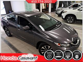 Used 2015 Honda Civic EX - TOIT OUVRANT/CAM ANGLE-MORT/CRUISE for sale in St-Hyacinthe, QC