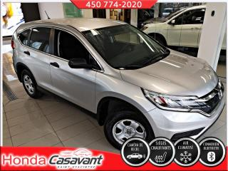 Used 2015 Honda CR-V LX 2RM-VITRE TEINTÉES/BLUETOOTH/CRUISE for sale in St-Hyacinthe, QC