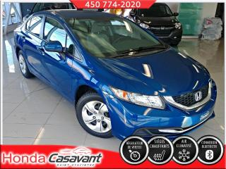 Used 2015 Honda Civic LX**BAS KM**BLUETOOTH/CRUISE/BANCS CHAUF for sale in St-Hyacinthe, QC