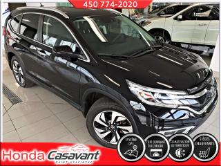 Used 2015 Honda CR-V TOURING AWD-GPS/DÉFLECTEUR/CUIR/HITCH for sale in St-Hyacinthe, QC