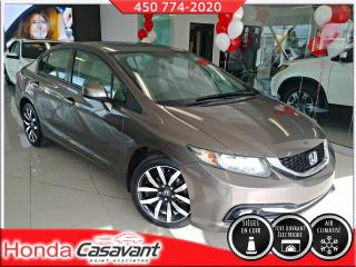 Used 2013 Honda Civic Touring, DEM DISTANCE/CUIR/GPS for sale in St-Hyacinthe, QC