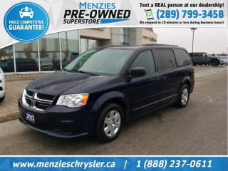 Used 2013 Dodge Grand Caravan SE, Full STO N Go, Rear Air, Clean Carfax for sale in Whitby, ON