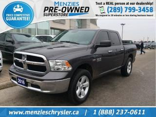 Used 2016 RAM 1500 SLT, Hemi 4x4, Cam, One Owner, Accident Free for sale in Whitby, ON