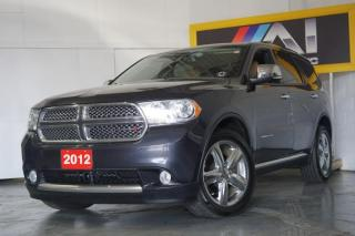 Used 2012 Dodge Durango Citadel AWD 7Seat. Navi Cam Bluetooth Leather Roof for sale in North York, ON