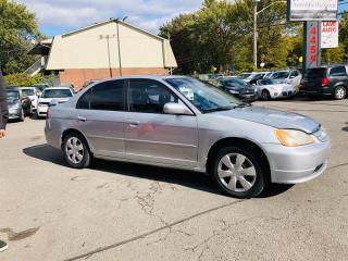 Used 2003 Honda Civic 1.7L-Auto-Toit-Groupe Electrique-Accidenté Réparer for sale in Laval, QC