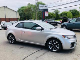 Used 2011 Kia Forte Koup Koup-SX-Toute Equipée-Cuir-Toit-Air-MagsTres Econo for sale in Laval, QC