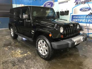 Used 2013 Jeep Wrangler Cuir 4WD 4dr Sahara for sale in Val-D'or, QC
