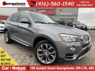 Used 2017 BMW X3 xDrive28i | LEATHER | PANO | NAVI | CLEAN CARFAX for sale in Georgetown, ON