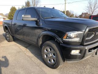 Used 2018 RAM 3500 Laramie Mega Cab Diesel 3500!! Loaded with Leather and Sunroof! Heated Front and Rear Seats, Heated Steering for sale in Kemptville, ON