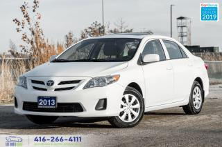 Used 2013 Toyota Corolla Sunroof Certified Clean Carfax 1 Owner We Finance for sale in Bolton, ON