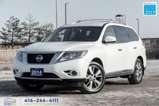 Used 2014 Nissan Pathfinder AWD Platinum 1Owner CleanCarfax Certified Serviced for sale in Bolton, ON