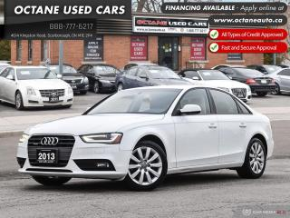 Used 2013 Audi A4 2.0T Premium Accident Free! Low KM! Certified! for sale in Scarborough, ON