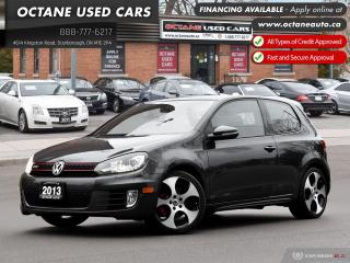 Used 2013 Volkswagen Golf GTI 3-Door Ontario Vehicle! One Owner! Certified! for sale in Scarborough, ON