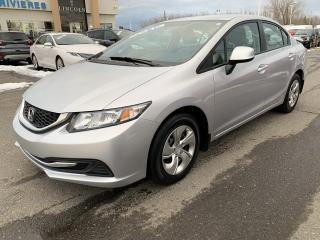 Used 2013 Honda Civic LX Siège chauffant Bluetooth Air climati for sale in Trois-Rivières, QC