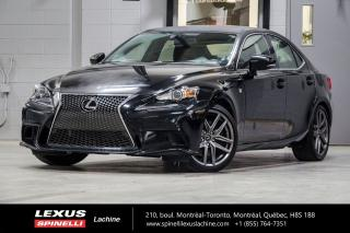 Used 2016 Lexus IS 300 F SPORT III AWD; CUIR TOIT GPS AUDIO ANGLES MORTS INTÉRIEUR ROUGE- NAVIGATION - MONITEUR ANGLES MORT - AUDIO PREMIUM MARK LEVINSON - PRÉ-COLLISION for sale in Lachine, QC