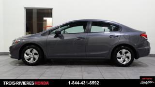 Used 2015 Honda Civic LX + MANUELLE + BAS KILOMÉTRAGE + BLUETO for sale in Trois-Rivières, QC