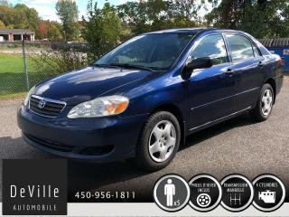 Used 2006 Toyota Corolla 2006 Toyota Corolla CE Tres Propre for sale in Granby, QC
