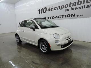 Used 2012 Fiat 500 C LOUNGE SPORT PACKAGE - DÉCAPOTABLE for sale in St-François-Du-Lac, QC