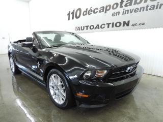 Used 2012 Ford Mustang PREMIUM - DÉCAPOTABLE - CUIR ROUGE for sale in St-François-Du-Lac, QC