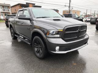Used 2017 RAM 1500 SPORT CREW 4X4, HITCH, HOOD SPORT for sale in St-Hyacinthe, QC