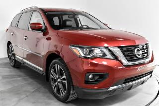 Used 2017 Nissan Pathfinder PLATINUM AWD CUIR TOIT MAGS NAV TV/DVD for sale in St-Constant, QC