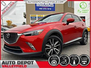 Used 2016 Mazda CX-3 GT AWD + GPS, CUIR, TOIT OUVRANT, MAGS, CAMÉRA for sale in Salaberry-de-Valleyfield, QC