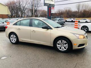Used 2012 Chevrolet Cruze 27$* par semaine/Financement for sale in Laval, QC