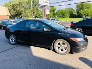Used 2007 Honda Civic Cpe 1.8L-Ait-Toit-Mags-Groupe Electrique-Cruise-Ec for sale in Laval, QC