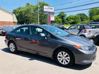 Used 2012 Honda Civic Sdn 1.8L-Econo-Air-Auto-Bluetooth-Cruise-Tres Prop for sale in Laval, QC